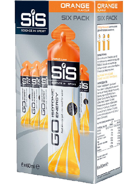 SiS Go - Nutrition sport - Orange 6 x 60ml Multicolore